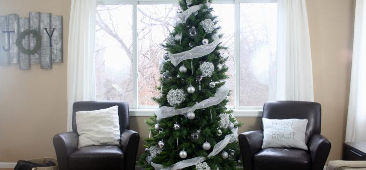 White Winter Woodland Christmas Tree