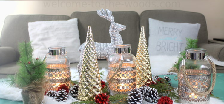 Painted Pinecones Hollar Holiday Display