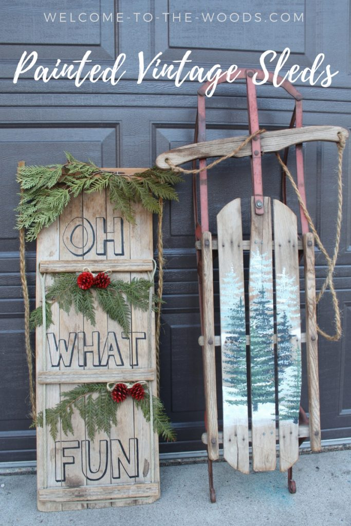 This painted vintage sled tutorial is an adorable idea for Christmas decor!