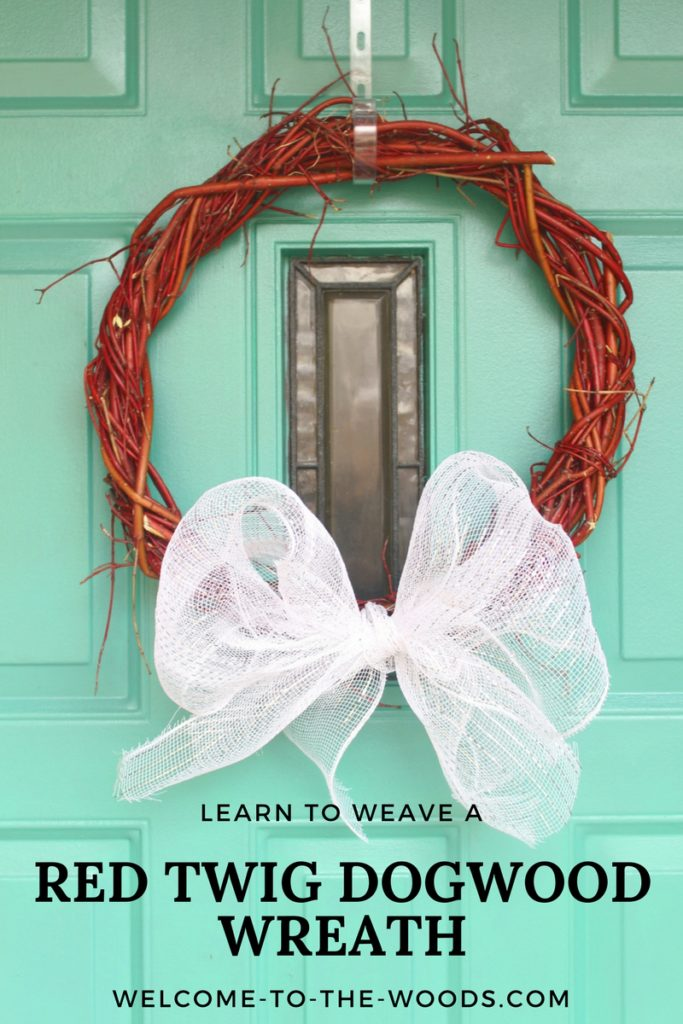 Learn how to weave a red twig dogwood wreath, similar method to grapevine wreaths. It is super easy!