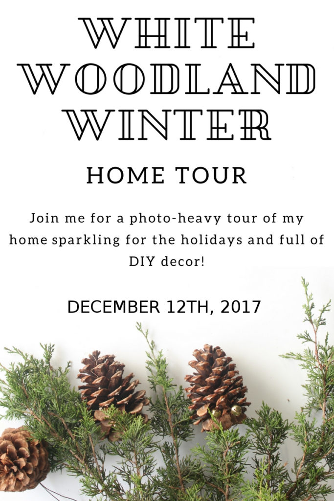 White winter woodland home tour! See my house decked out for the holidays including the tree, front entrance decor, a tablescape, and more!