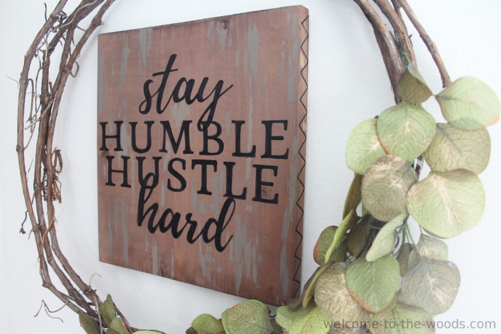 Perfect Hand Lettering On Wood Signs Welcome To The Woods