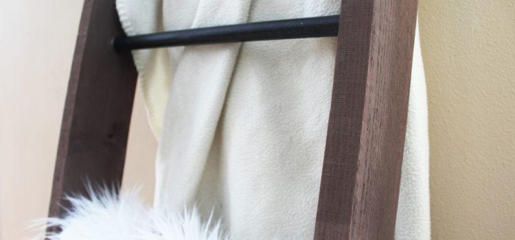 Metal and Wood DIY Blanket Ladder