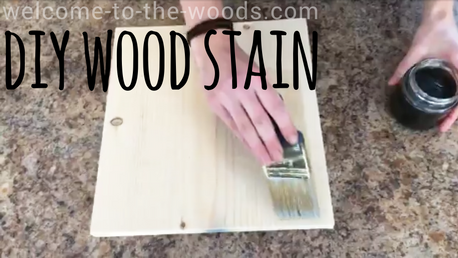 Video tutorial included! How to make your own DIY wood stain using vinegar, steel wool, and various other ingredients!