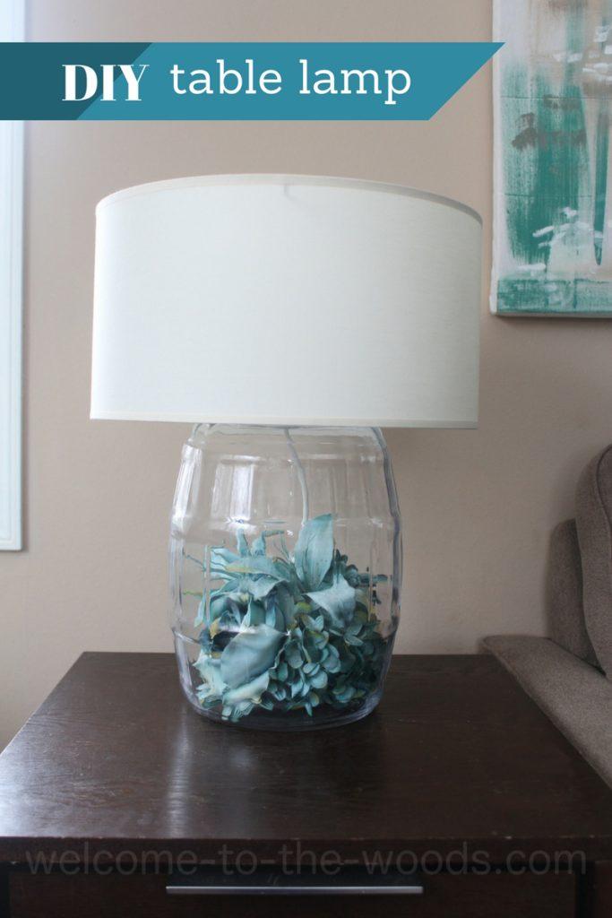Diy Glass Table Lamp Tutorial