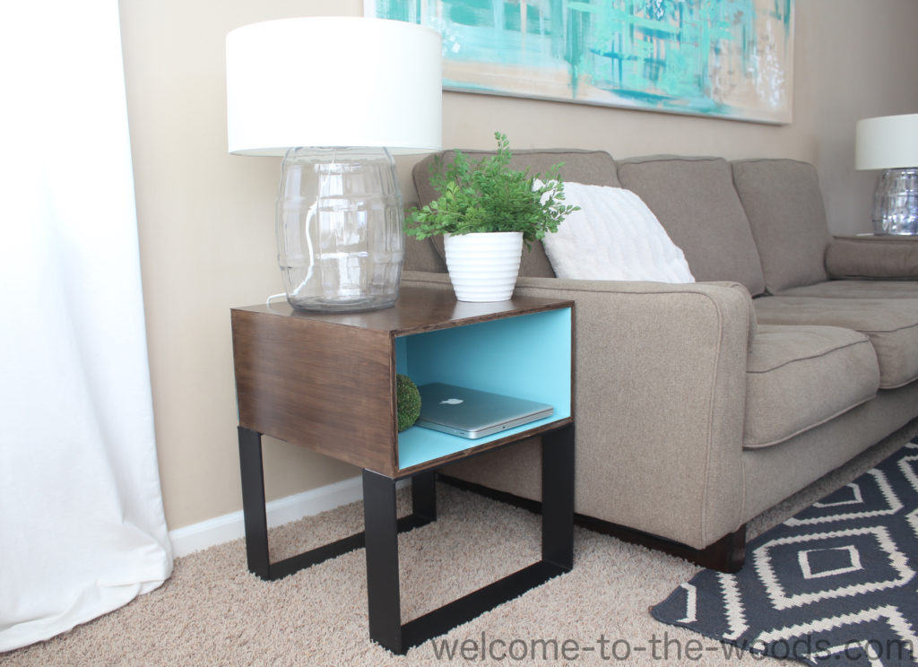 Modern Industrial Diy End Tables Welcome To The Woods