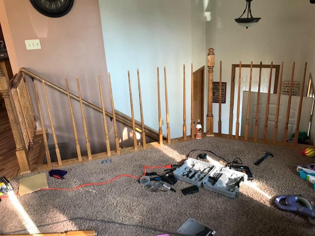 Stair Railing Redo, Revamp Stairs To Make Them Safe