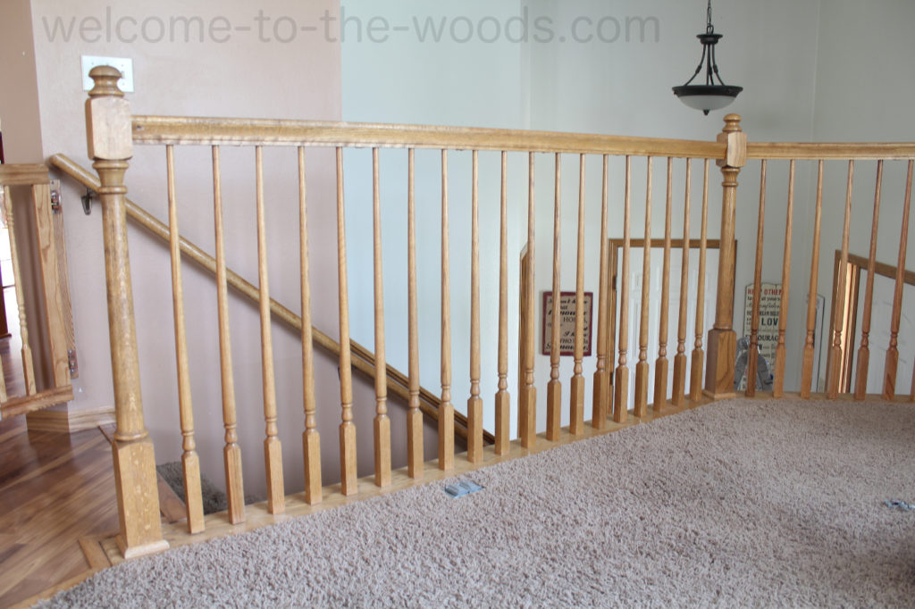 Finished Diy Stair Railing Safety Redo Adding Spindles So They Would Be 4 Apart