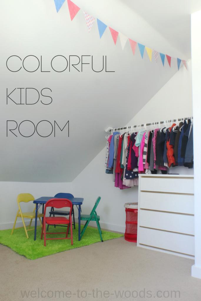 Colorful Kids Bedroom Addition