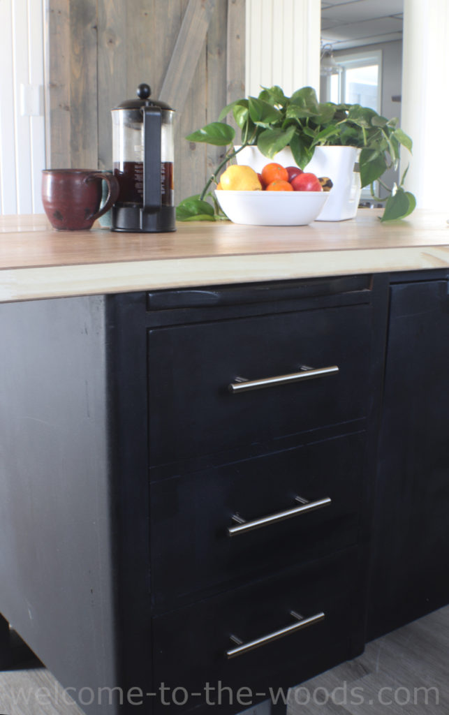 DIY Kitchen Island From A Lawyer's Desk - welcome to the woods