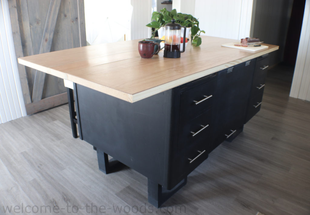 Diy Kitchen Island From A Lawyer S Desk Welcome To The Woods
