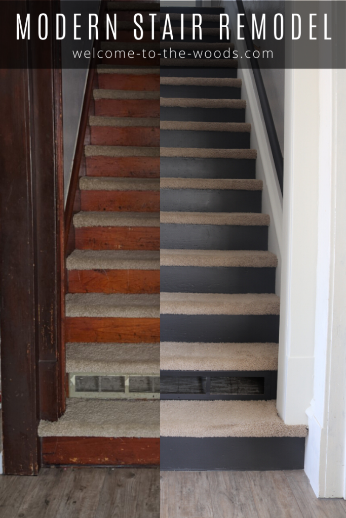 Picture of: Modern Painted Staircase Remodel